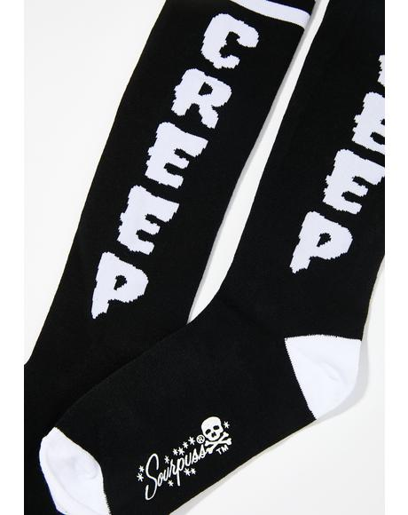 Sourpuss Creep Knee Socks