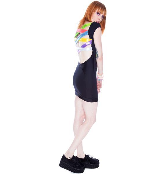 Multi Shine Strappy Dress