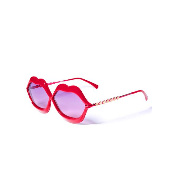 Wildfox Couture Red Lip Service Sunglasses