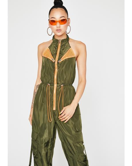 Now Carry On Halter Jumpsuit