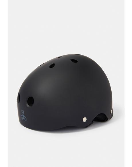 All Black Rubber Sweatsaver Helmet