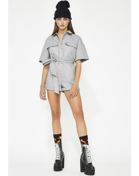 Do What I Want Denim Romper