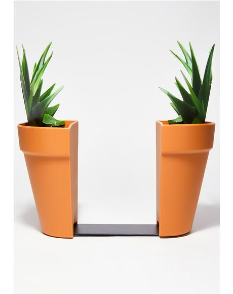 Planter Book Ends