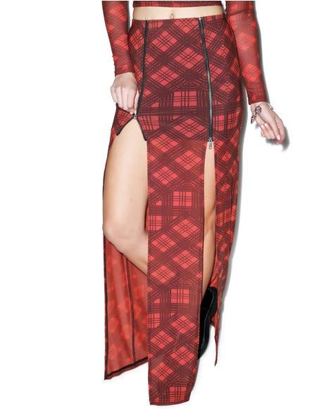 Plaid-ical Maxi Skirt