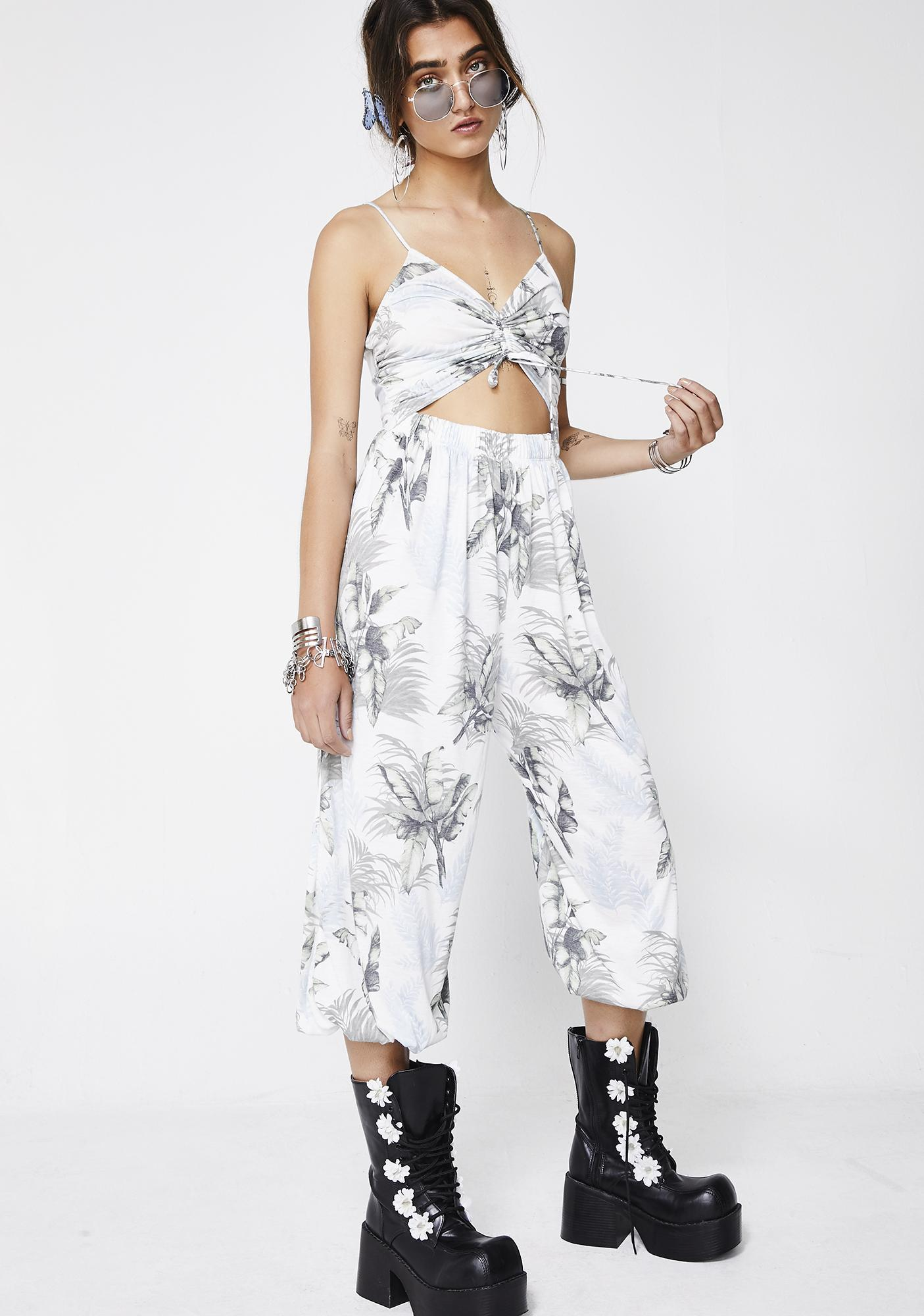 Tropical Heat Cutout Jumpsuit