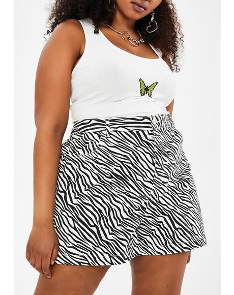 Servin' Animal Style Zebra Shorts