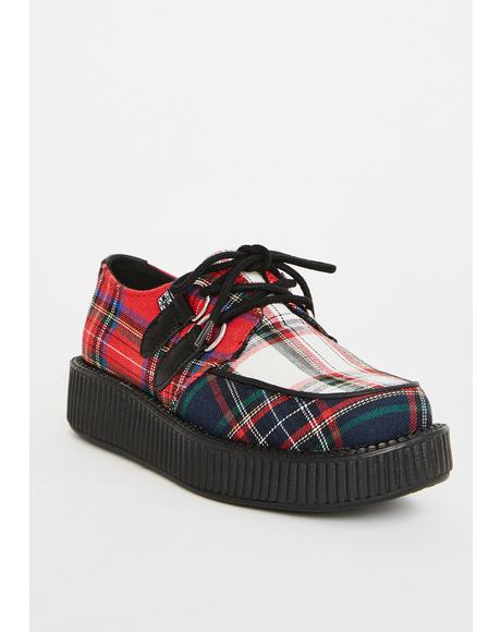 Mixed Plaid Viva Low Creepers