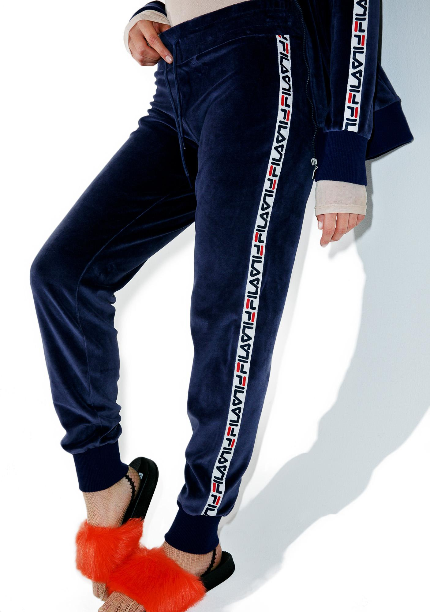 fila velour jogging suits