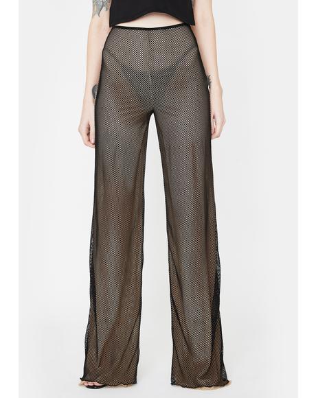 Black Ara Mesh Pants