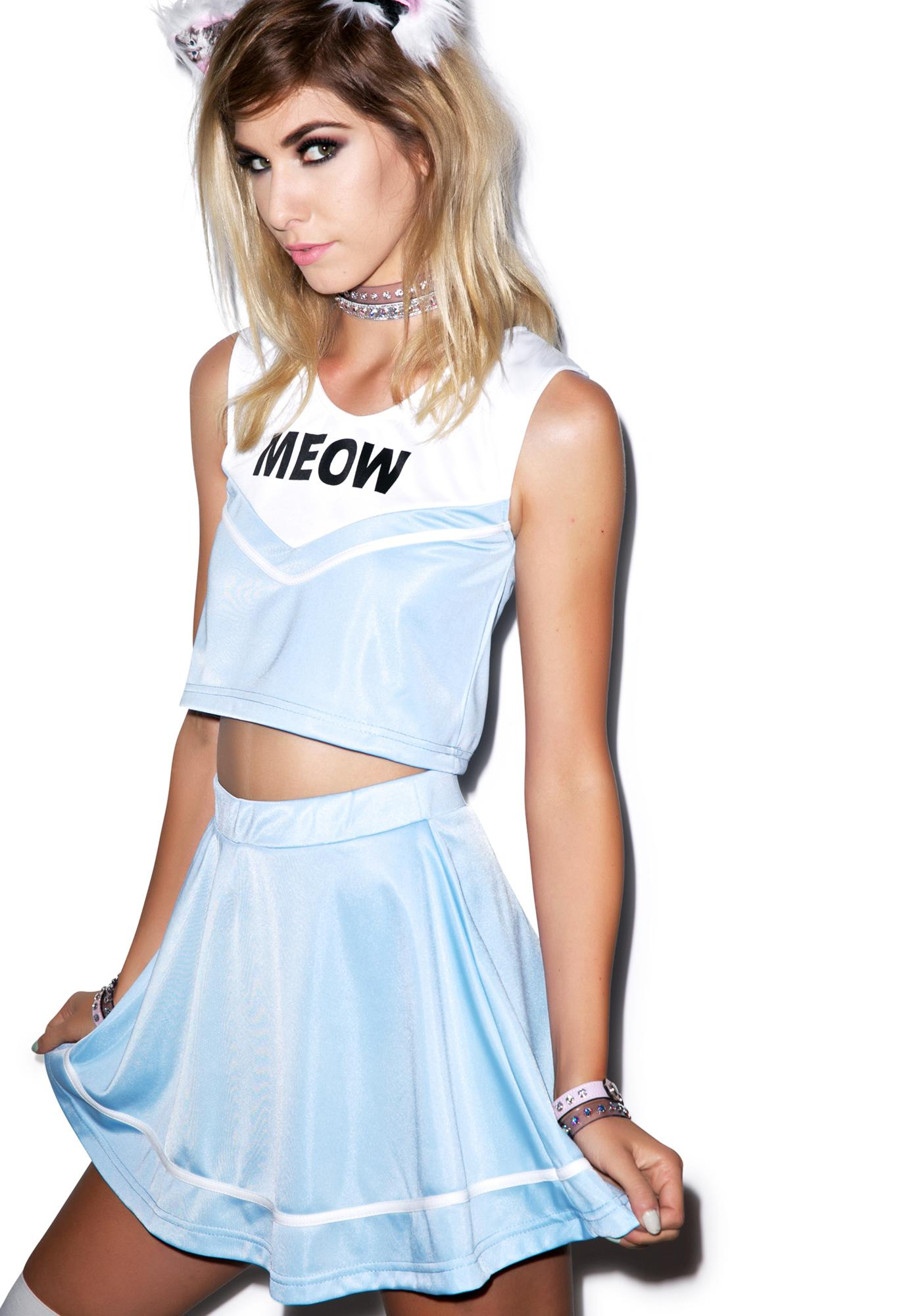 Do Ya Want Meow? Cheerleader Skirt Set