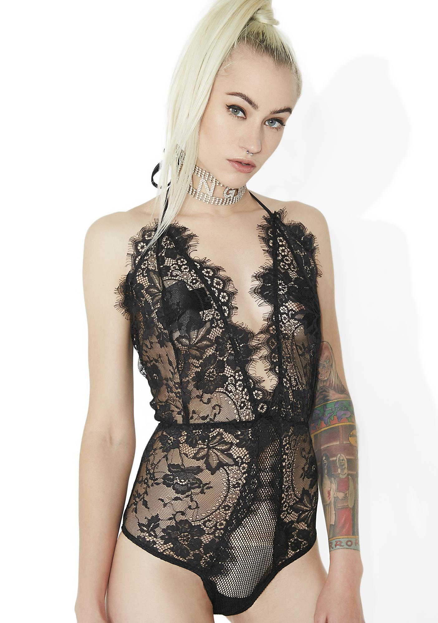 Original Sin Sheer Lace Teddy