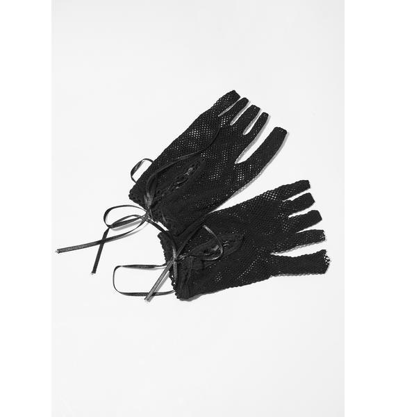 Baddie To The Bone Fishnet Gloves