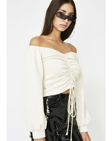 Icy Raise The Price Off The Shoulder Top