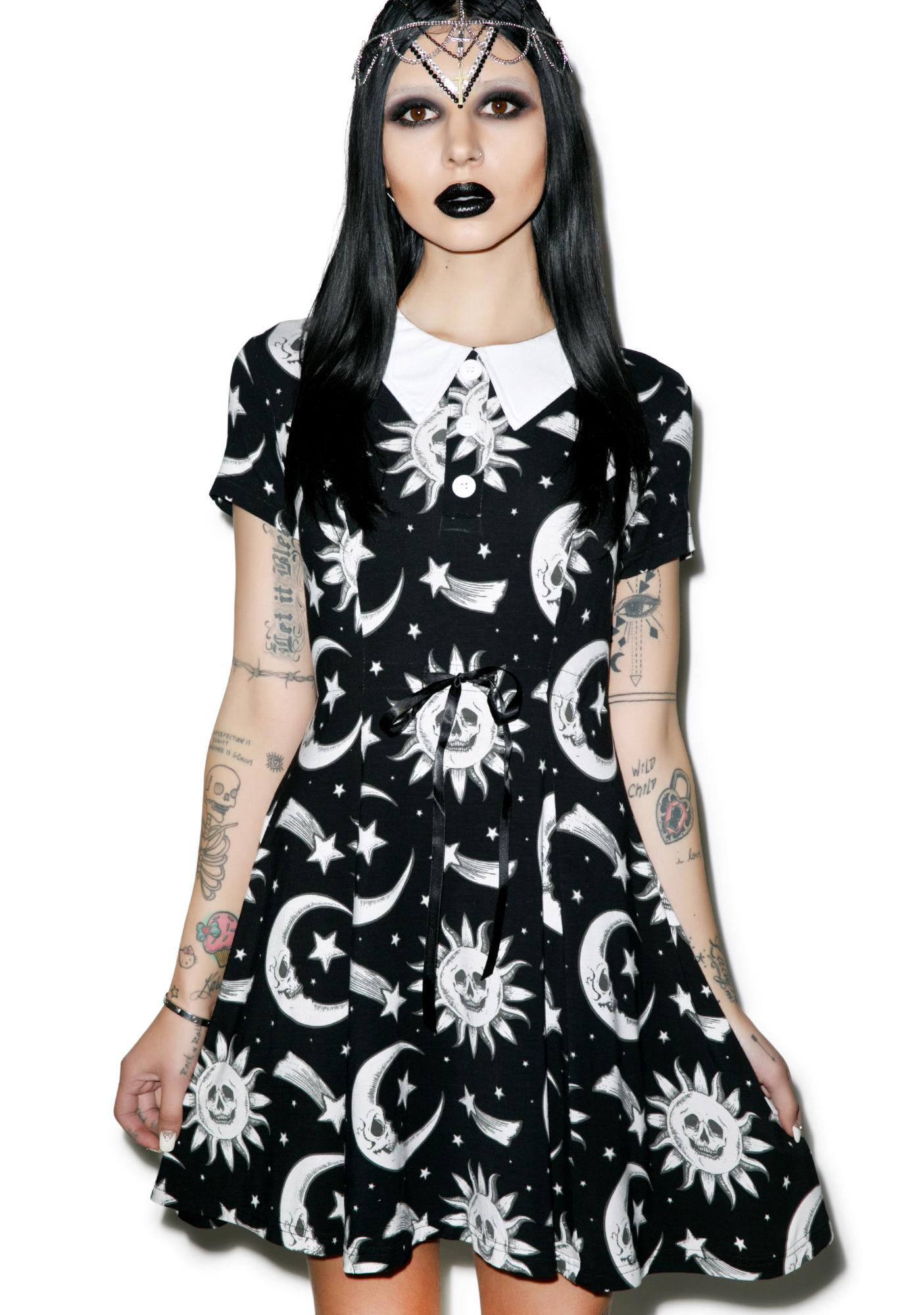 6c54b6f71b Killstar Cozmic Death Doll Dress