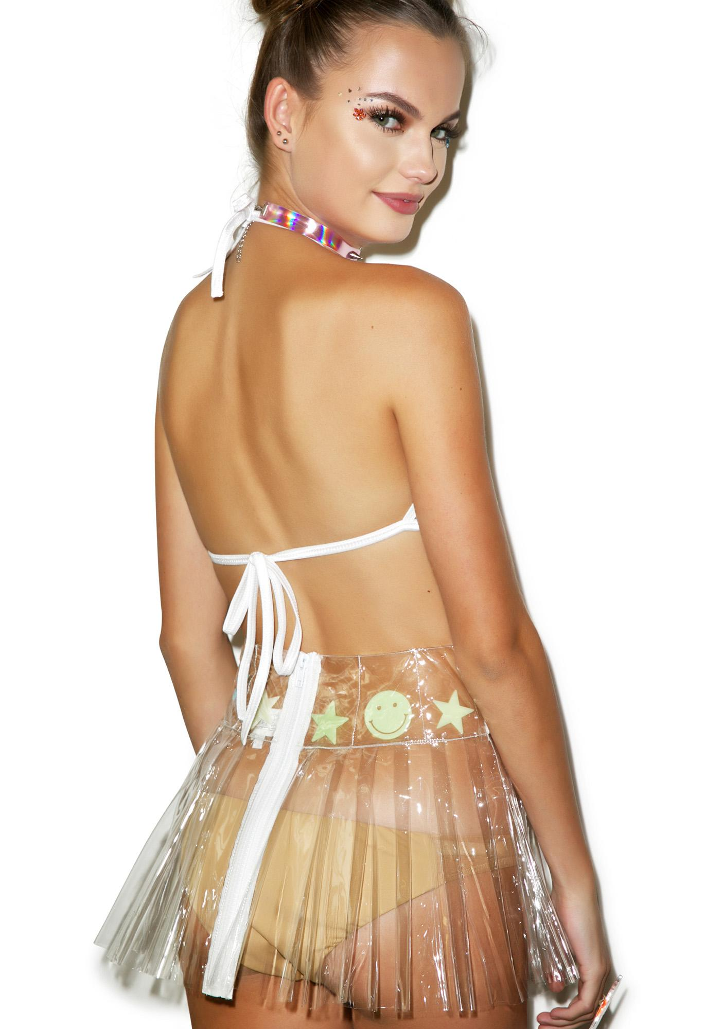Indyanna Glow Spice PVC Pleated Skirt