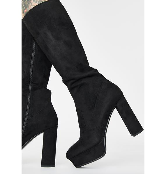 Public Desire Become Long Suede Boots