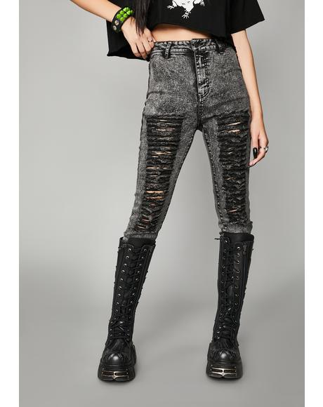 Anthem Of Anarchy Distressed Jeans