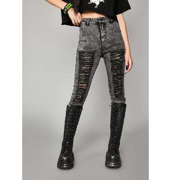 Widow Anthem Of Anarchy Distressed Jeans