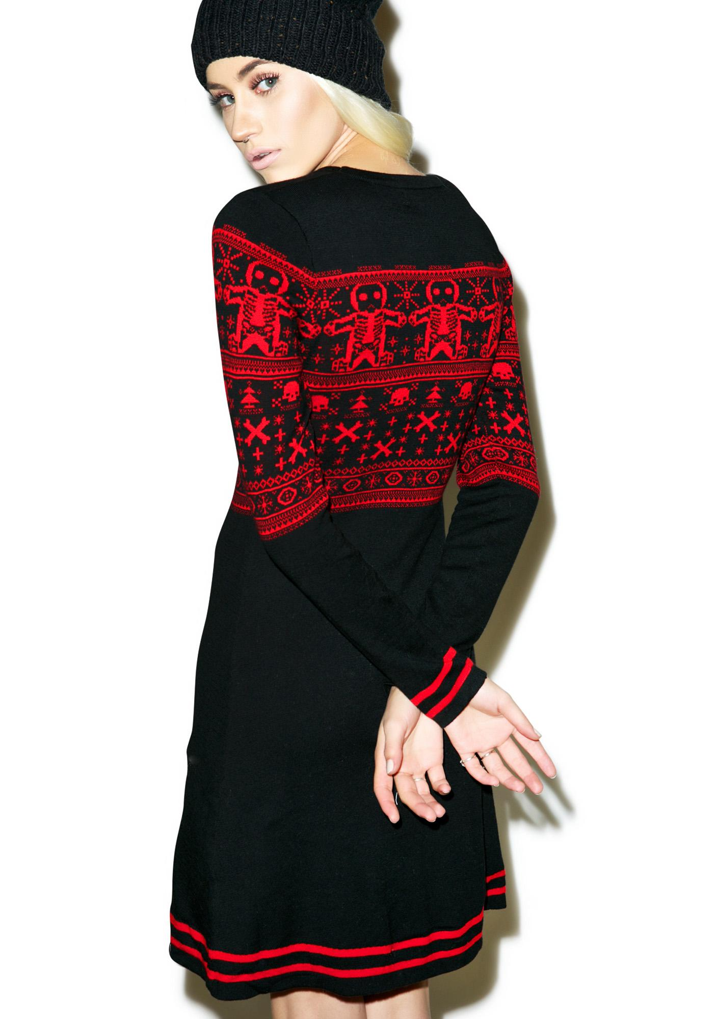 Sourpuss Clothing Gingerbread Sweater Dress
