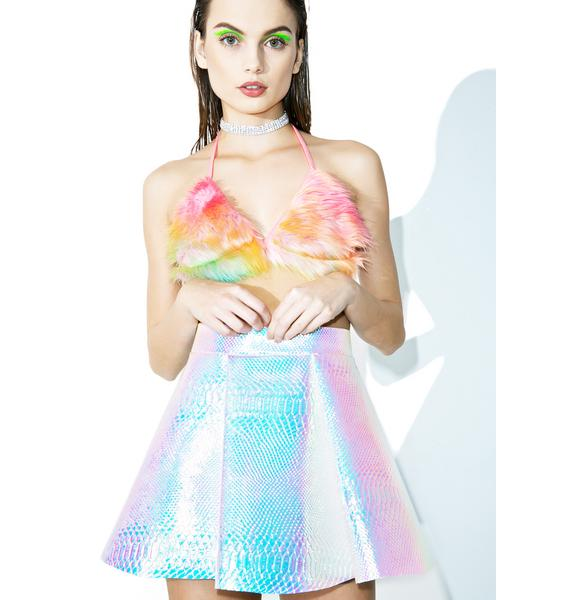 Cosmic Unicornz Titania Holographic Skirt