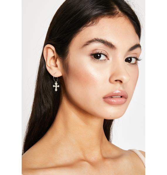 Cross My Mind Mini Hoop Earrings