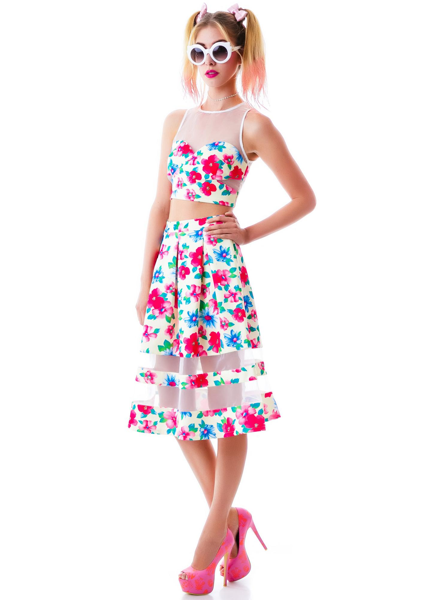 Fresh Flora Skirt Set