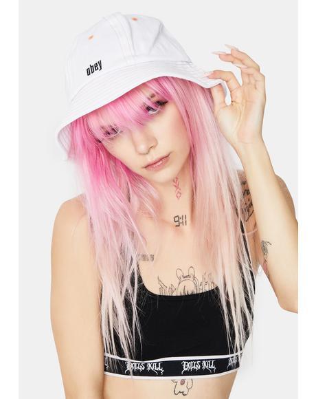 White Moore Bucket Hat