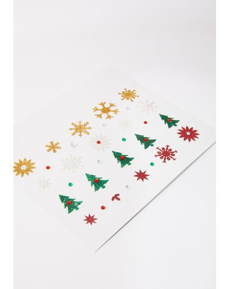Holiday Spirit Face Stickers