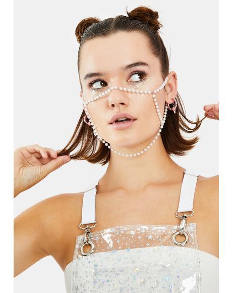 Glamorama Pearl Face Mask