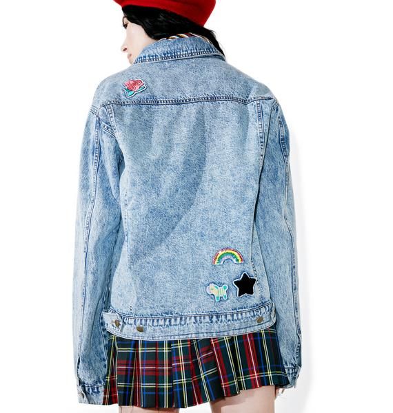 Scout Patch Denim Jacket