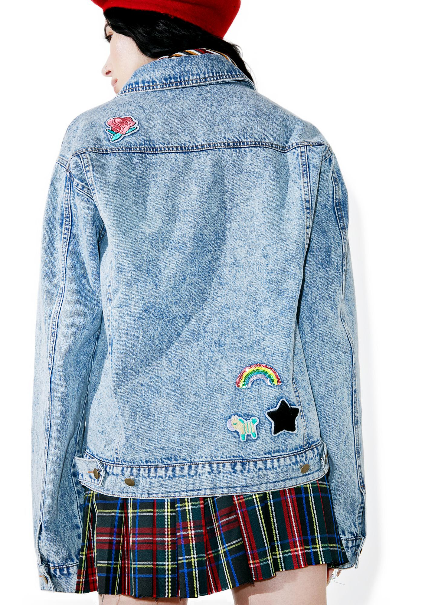 Scout Patch Denim Jacket