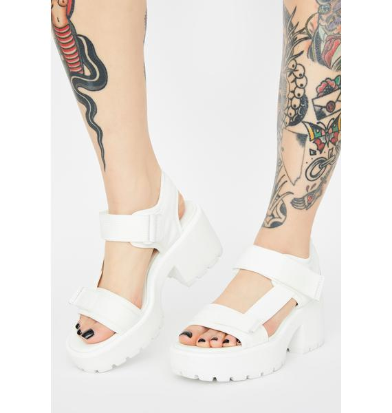 VAGABOND SHOEMAKERS White Textile Dioon Platform Sandals