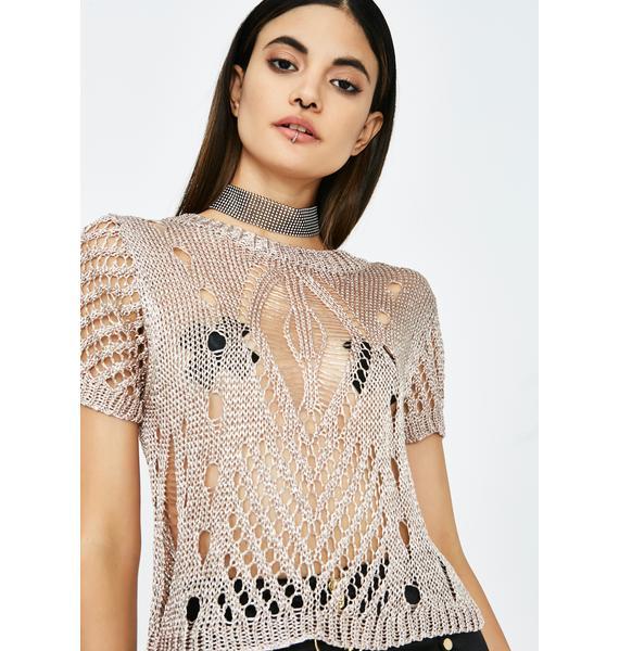 Boujee Habits Open Knit Sweater