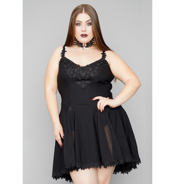Widow My Darkest Desires Lace Mini Dress