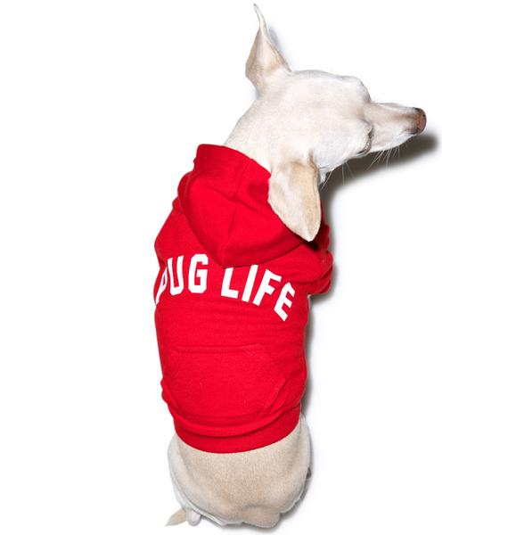 Private Party Pug Life Dog Hoodie
