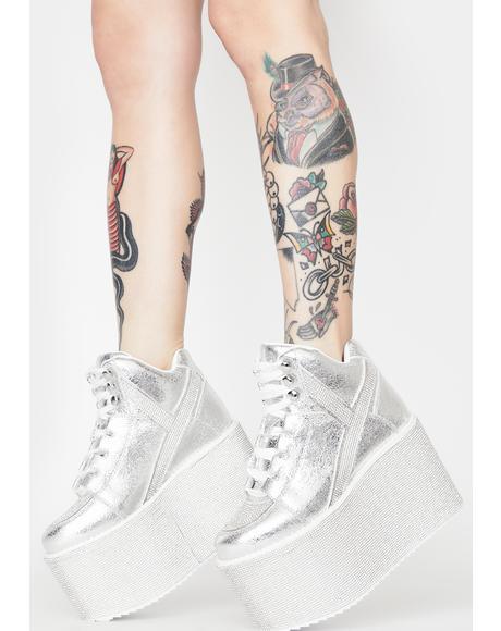 Qozmo Hi Qrystal Platform Sneakers