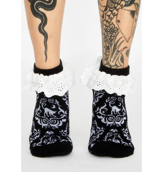 Too Fast Victorian Gothic Ruffle Socks