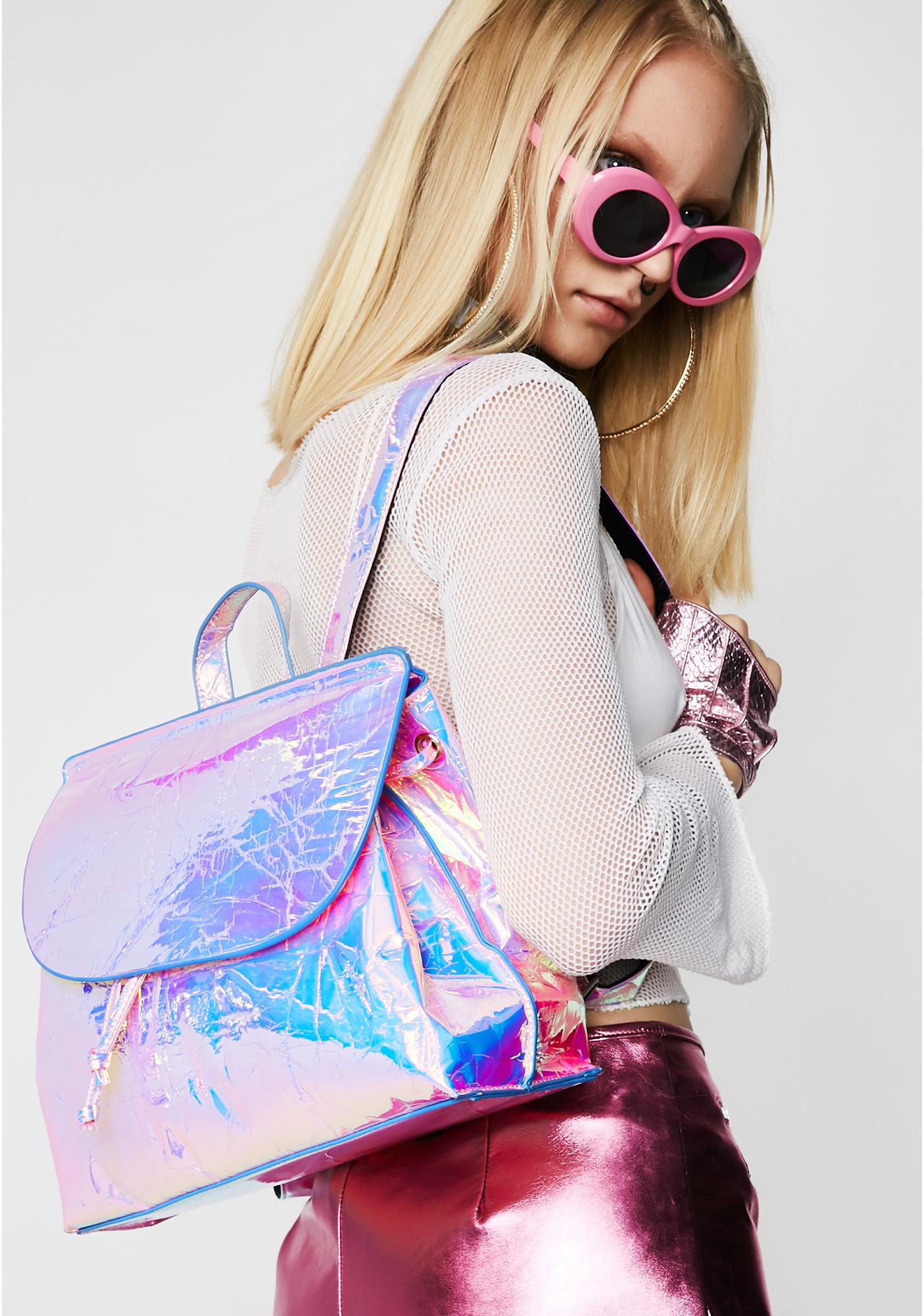Skinnydip Pink Holo Backpack