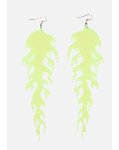 Dank Mad Blazed Drop Earrings