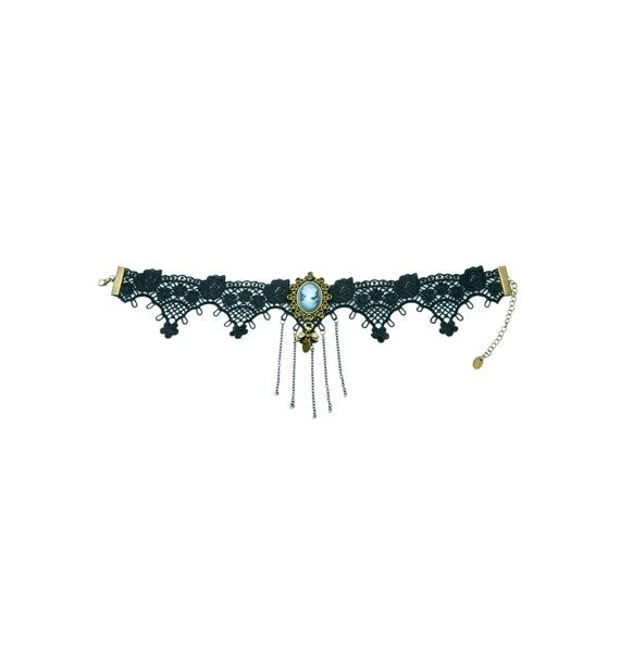 Another Time Lace Cameo Choker