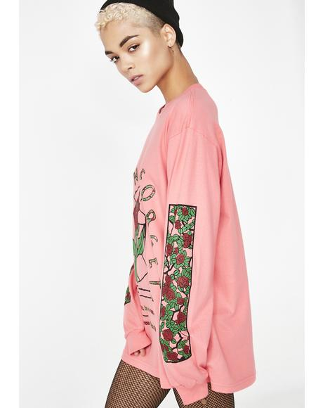 Stained Roses Long Sleeve Tee