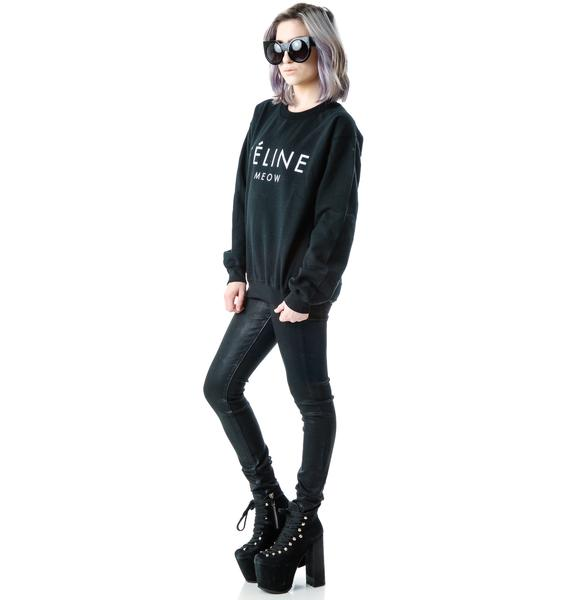 Brian Lichtenberg Feline Pullover Sweatshirt