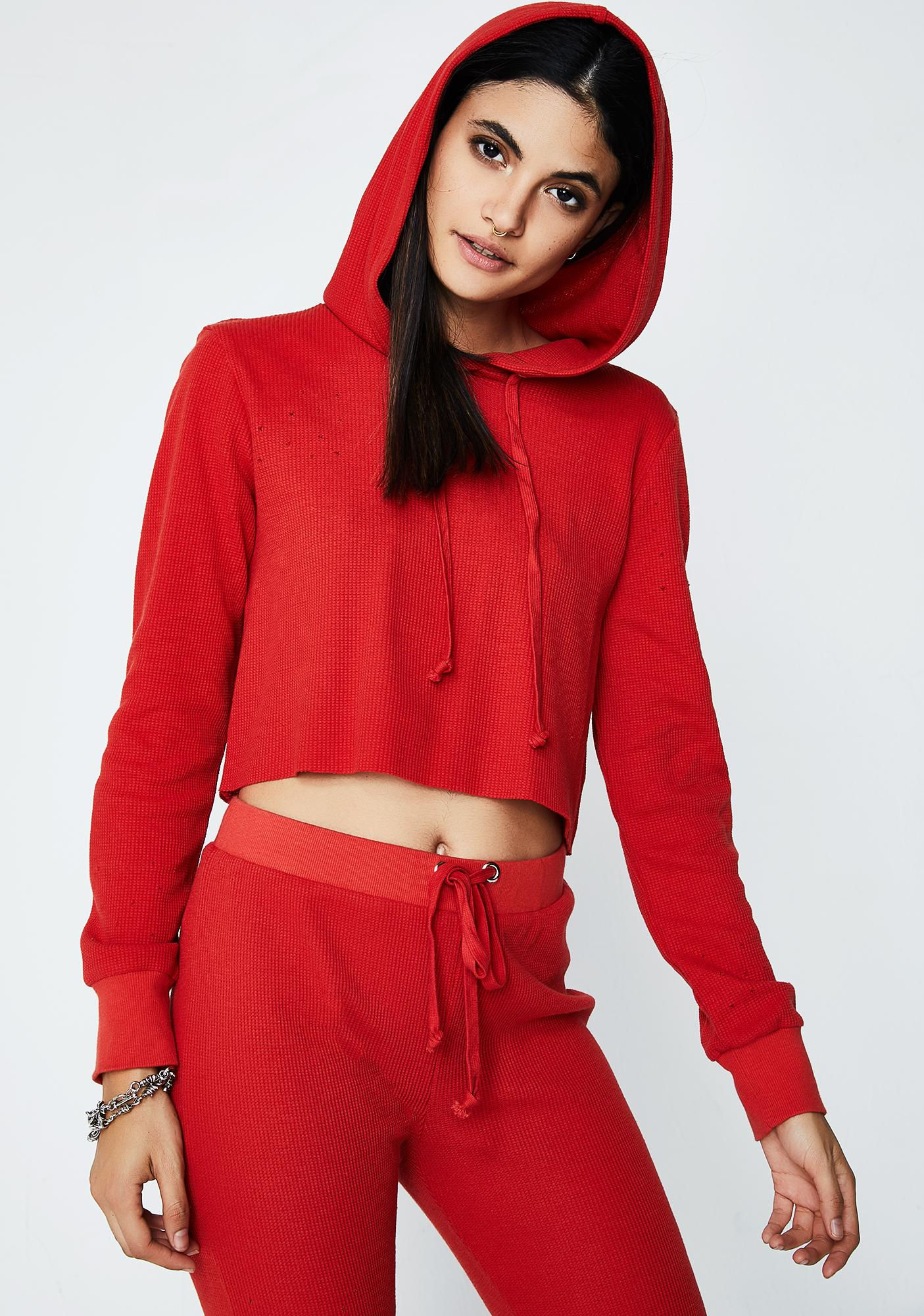 Can't Handle Cropped Hoodie