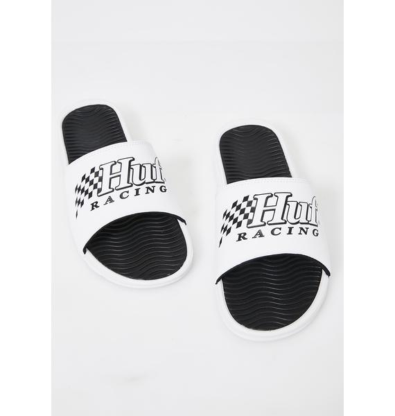 HUF White Slides