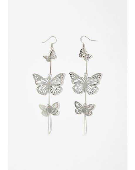 Blossoming Butterfly Earrings