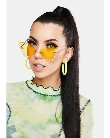 Sunny Cutie Pie Rhinestone Sunglasses