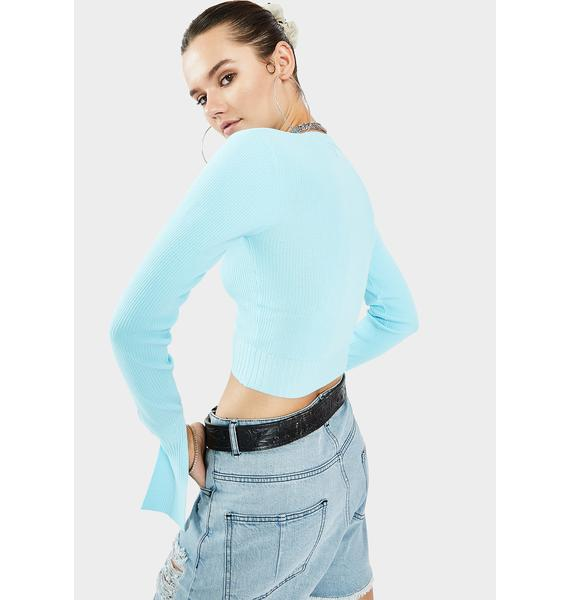 THE KRIPT Sky Coya Long Sleeve Crop Top