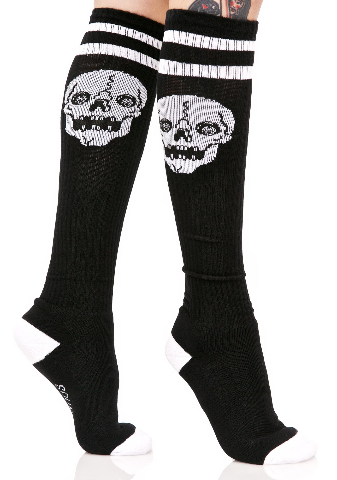 Sourpuss Clothing Skelly Knee High Socks