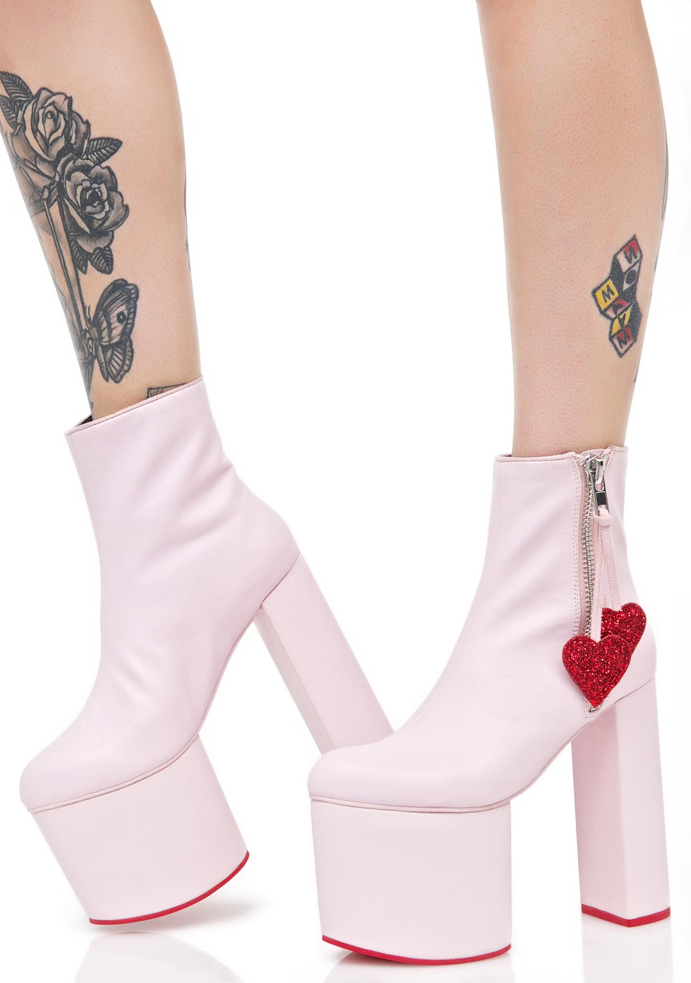 Sugar Thrillz Heartstomper Platform Boots