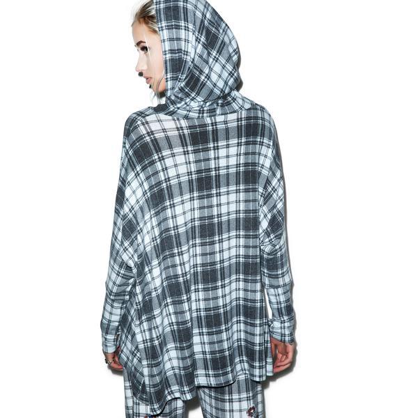Lauren Moshi Wilma Pins Oversized Hooded Pullover